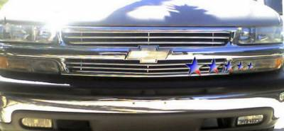 Grilles - Custom Fit Grilles - APS - Chevrolet Tahoe APS Tubular Grille - Upper - Stainless Steel - C68300S