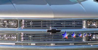 Grilles - Custom Fit Grilles - APS - Chevrolet CK Truck APS Tubular Grille - 6 Bars - Upper - Stainless Steel - C68706S