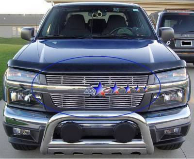 Grilles - Custom Fit Grilles - APS - Chevrolet Colorado APS Tubular Grille - Upper - Stainless Steel - C68747S