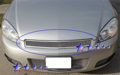 Grilles - Custom Fit Grilles - APS - Chevrolet Impala APS Wire Mesh Grille - Upper - Stainless Steel - C75765T
