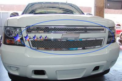 Grilles - Custom Fit Grilles - APS - Chevrolet Avalanche APS Wire Mesh Grille - Upper - Stainless Steel - C76451S