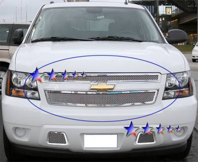 Grilles - Custom Fit Grilles - APS - Chevrolet Tahoe APS Wire Mesh Grille - Upper - Stainless Steel - C76451T