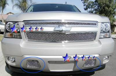 Grilles - Custom Fit Grilles - APS - Chevrolet Avalanche APS Wire Mesh Grille - Bumper - Stainless Steel - C76467S