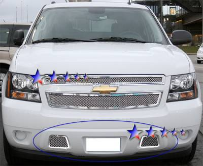 Grilles - Custom Fit Grilles - APS - Chevrolet Avalanche APS Wire Mesh Grille - Bumper - Stainless Steel - C76467T