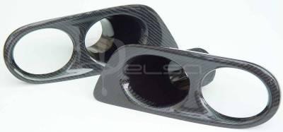 Headlights & Tail Lights - Fog Lights - Custom - E46 M3 Carbon Fiber Fog Light Covers
