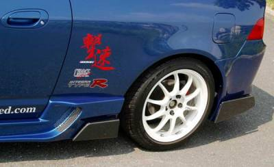 Chargespeed - Acura RSX Chargespeed Side Fin for Type-2 Rear Bumper - CS207BFC