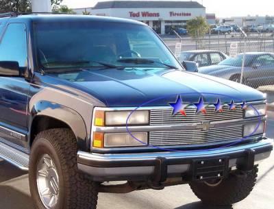 Grilles - Custom Fit Grilles - APS - Chevrolet Suburban APS Billet Grille - Upper - Aluminum - C85001A