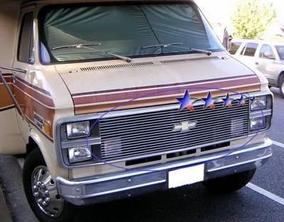 Grilles - Custom Fit Grilles - APS - Chevrolet CK Truck APS Billet Grille - Upper - Aluminum - C85002A