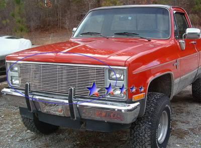 Grilles - Custom Fit Grilles - APS - Chevrolet CK Truck APS Billet Grille - Upper - Stainless Steel - C85002S