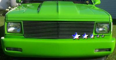 Grilles - Custom Fit Grilles - APS - Chevrolet S10 APS Billet Grille - Upper - Aluminum - C85004A