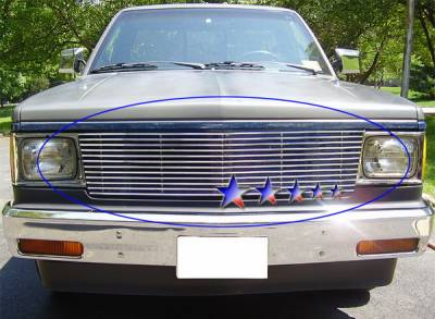 Grilles - Custom Fit Grilles - APS - Chevrolet S10 APS Billet Grille - Upper - Stainless Steel - C85004S
