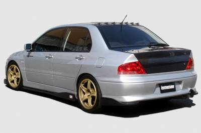 Lancer - Rear Add On - Chargespeed - Mitsubishi Lancer Chargespeed Bottom Line Rear Caps - CS423RCF
