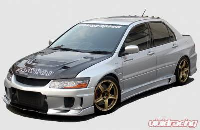 Lancer - Body Kits - Chargespeed - Mitsubishi Lancer Chargespeed Type-2 Full Body Kit with Carbon Rear Bumper - CS424FK2