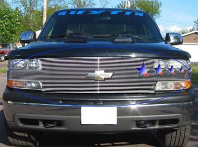 Grilles - Custom Fit Grilles - APS - Chevrolet Suburban APS Billet Grille - Full Face - Upper - Aluminum - C85025A