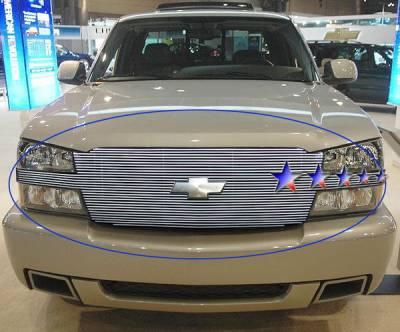 Grilles - Custom Fit Grilles - APS - Chevrolet Silverado APS Billet Grille - Full Face - Upper - Aluminum - C85026A