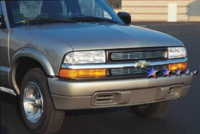 Grilles - Custom Fit Grilles - APS - Chevrolet S10 APS Billet Grille - Criss Cross Style - Upper - Stainless Steel - C85043S