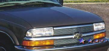 Grilles - Custom Fit Grilles - APS - Chevrolet S10 APS Billet Grille - Horizontal Bar - Upper - Aluminum - C85044A