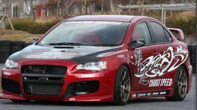 Lancer - Body Kits - Chargespeed - Mitsubishi Lancer Chargespeed Type-1 Full Body Kit - CS427FK1
