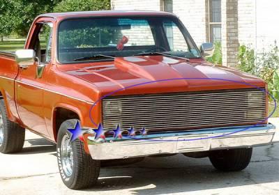 Grilles - Custom Fit Grilles - APS - Chevrolet CK Truck APS Billet Grille - Phantom Style - Upper - Aluminum - C85202A