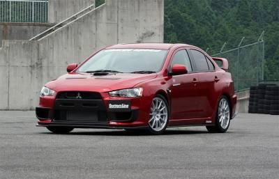 Lancer - Body Kits - Chargespeed - Mitsubishi Lancer Chargespeed Bottom Line Type-1 Full Lip Kit - 5PC - CS427FLK1F