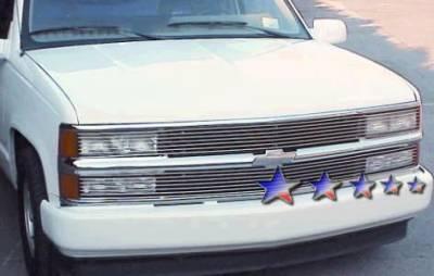 Grilles - Custom Fit Grilles - APS - Chevrolet Suburban APS Billet Grille - Phantom Style - Upper - Aluminum - C85211A