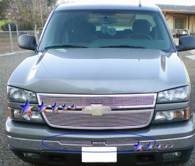Grilles - Custom Fit Grilles - APS - Chevrolet Silverado APS Billet Grille - Air Dam - Stainless Steel - C85302S