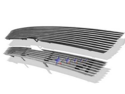 Grilles - Custom Fit Grilles - APS - Chevrolet Trail Blazer APS Billet Grille - Upper - Aluminum - C85307A