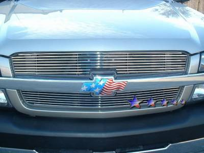 Grilles - Custom Fit Grilles - APS - Chevrolet Silverado APS Billet Grille - Upper - Aluminum - C85317A