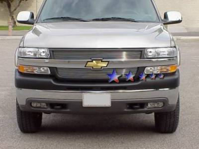 Grilles - Custom Fit Grilles - APS - Chevrolet Silverado APS Billet Grille - Upper - Aluminum - C85326A
