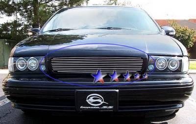 Grilles - Custom Fit Grilles - APS - Chevrolet Caprice APS Billet Grille - Upper - Aluminum - C86002A