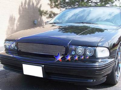 Grilles - Custom Fit Grilles - APS - Chevrolet Caprice APS Billet Grille - Upper - Stainless Steel - C86002S
