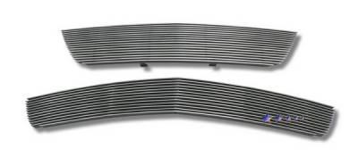 Grilles - Custom Fit Grilles - APS - Chevrolet Malibu APS Billet Grille - Upper & Bumper - Aluminum - C86628A
