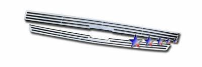 Grilles - Custom Fit Grilles - APS - Chevrolet Trail Blazer APS CNC Grille - Upper - Aluminum - C95307A