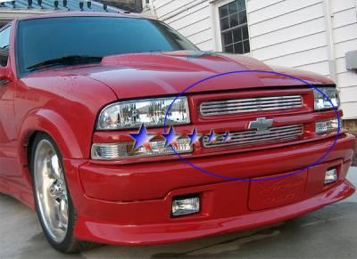 Grilles - Custom Fit Grilles - APS - Chevrolet Blazer APS CNC Grille - Criss Cross Style - Upper - Aluminum - C95705A
