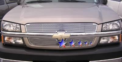 Grilles - Custom Fit Grilles - APS - Chevrolet Avalanche APS CNC Grille - Upper - Aluminum - C95717A