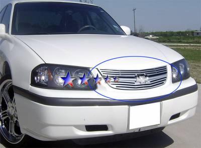 Grilles - Custom Fit Grilles - APS - Chevrolet Impala APS CNC Grille - Upper - Aluminum - C95741A