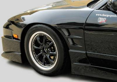 240SX - Fenders - Chargespeed - Nissan 240SX Chargespeed Silvia D-1 Style Widebody Front Fender - Pair - CS703FF