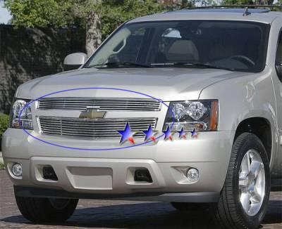 Grilles - Custom Fit Grilles - APS - Chevrolet Avalanche APS CNC Grille - Upper - Aluminum - C96451A