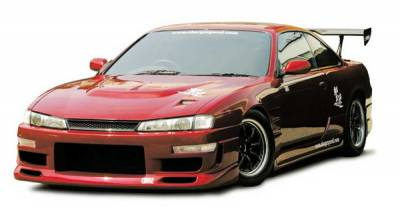 240SX - Hoods - Chargespeed - Nissan 240SX Chargespeed Vented Carbon Hood - CS705HCV