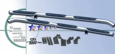 Suv Truck Accessories - Running Boards - APS - Chevrolet Silverado APS Side Step Nerf Bars - CB2076
