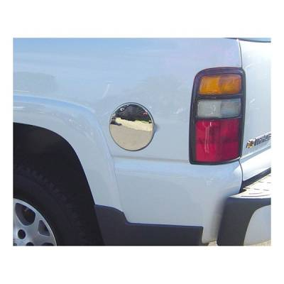 Accessories - Fuel Tank Covers - V-Tech - GMC Sierra V-Tech Fuel Door Cover - Smooth Style - Chrome - 1377050