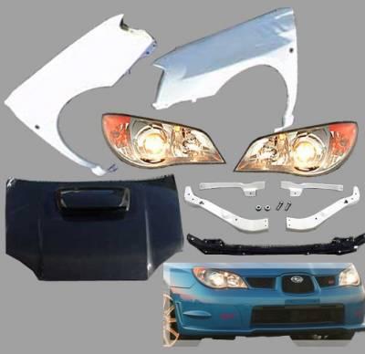 Impreza - Body Kits - Chargespeed - Subaru Impreza Chargespeed Body Kit Conversion to 2006-2007 Front End - CS975FELK
