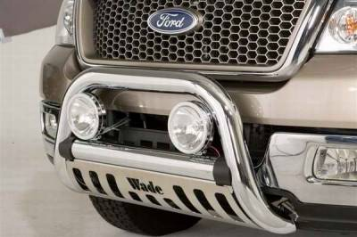 Grilles - Grille Guard - Wade - Wade Chrome Finish Bull Bar - 97202