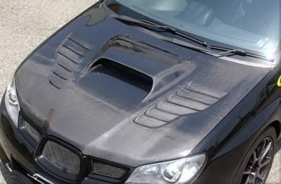 WRX - Hoods - Chargespeed - Subaru WRX Chargespeed New Eye Type-2 Vented Hood - CS975HCV2
