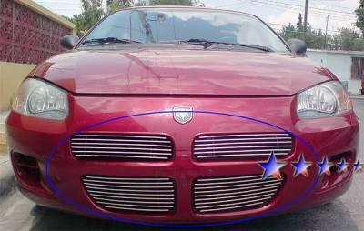 Grilles - Custom Fit Grilles - APS - Dodge Stratus 4DR APS Billet Grille - Upper - Aluminum - D65122A