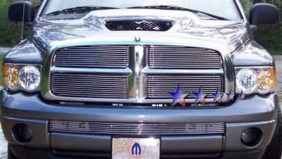 Grilles - Custom Fit Grilles - AutoDirectSave - 2002 2005 DODGE RAM BILLET GRILLE D65720A