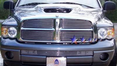 Grilles - Custom Fit Grilles - APS - Dodge Ram APS Billet Grille - Upper - Stainless Steel - D65720S