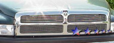 Grilles - Custom Fit Grilles - APS - Dodge Ram APS Billet Grille - Upper - Stainless Steel - D65721S