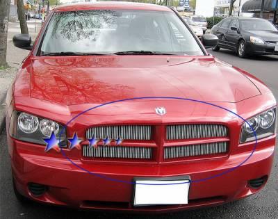 Grilles - Custom Fit Grilles - APS - Dodge Charger APS Billet Grille - Upper - Aluminum - D66438V