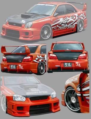 Impreza - Body Kits - Chargespeed - Subaru Impreza Chargespeed Peanut Eye Wide Body Super GT Full Body Kit with Straight Center - CS977FKSW